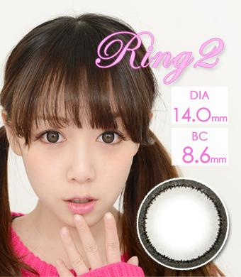 リング2 Ring2 Gray カラコン 14.0mm   [514]