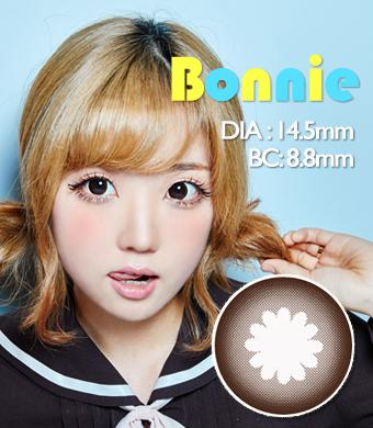 【3ヶ月カラコン】 Bonnie  Brown / 200</BR>DIA:14.5mm, 度あり‐10.00まで