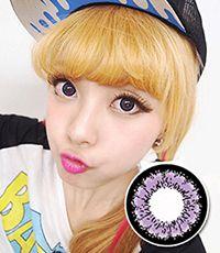 【1年カラコン】 Emily(X4) Violet / 169</BR>DIA:14.5mm, 度あり‐10.00まで