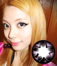 【1年カラコン】 Secret big star(CF) Violet / 076</BR>DIA:14.5mm, 度なし