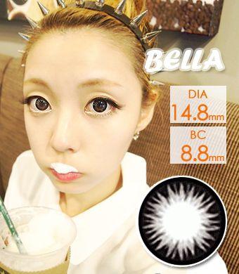 【1年カラコン】 ベラ Gray / 015</BR>DIA:14.8mm, 度あり‐8.00まで