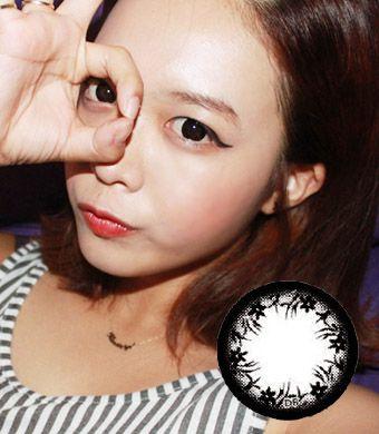 【1年カラコン】Jennet(OA1) Black  / 124</BR>DIA:14.3mm, 度なし