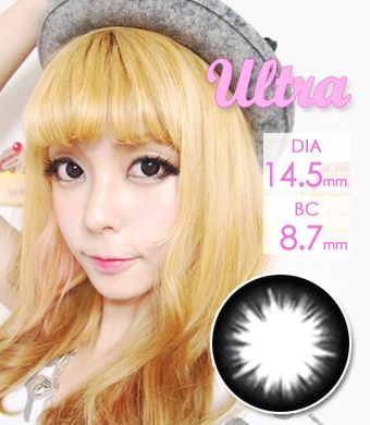 【1年カラコン】Ultra Magic Circle(XCK105) Black / 008</BR>DIA:14.5mm, 度あり‐8.00まで