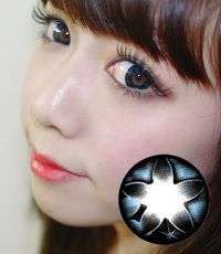 【1年カラコン】 Secret big star(CF) Blue / 074</BR>DIA:14.5mm, 度なし