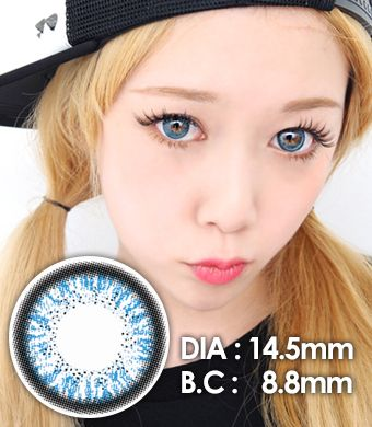"""<FONT COLOR=""""4697f2""""> [ Lucky! ¥990]</FONT>【1年カラコン】 Skinny Hazle Blue / 159</BR>"""