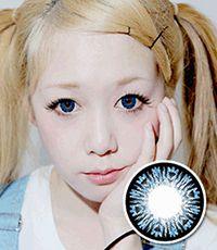 【1年カラコン】B200 Blue / 190</BR>DIA:14.5mm,  度なし