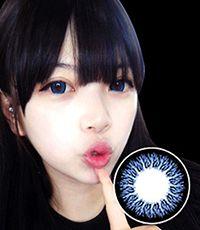 【1年カラコン】VASSEN TARU(TA204) Blue / 023</BR>DIA:15.0mm, 度あり‐8.00まで