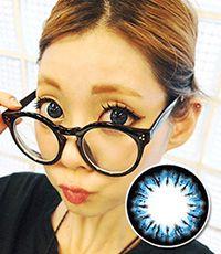 【1年カラコン】Bella(e22) Blue / 224</BR>DIA:14.5mm, 度あり‐8.00まで