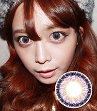 【1年カラコン】Serena Violet / 242</BR>DIA:14.5mm, 度あり‐8.00まで