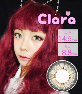 【1年カラコン】Clara Gray / 238</BR>DIA:14.5mm, 度あり‐10.00まで