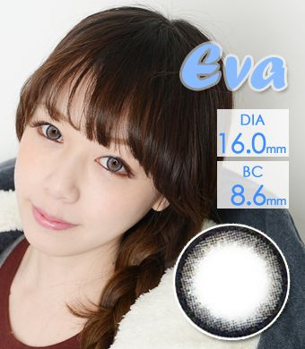 【1年カラコン】VASSEN Eva Original EO Gray / 615</BR>DIA:16.0mm, 度あり‐8.00まで