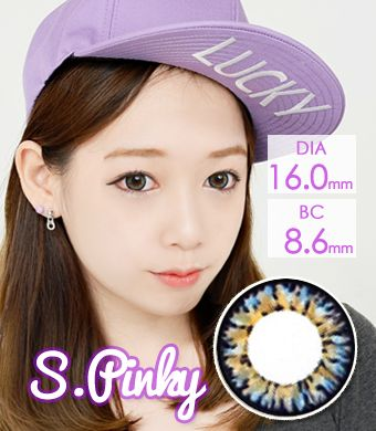 【1年カラコン】VASSEN Ic4 Super Pinky Gray / 629</BR>DIA:16.0mm, 度あり‐8.00まで