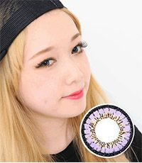 【1年カラコン】 Fairy Kirei Violet / 634</BR>DIA:16.0mm, 度あり‐8.00まで