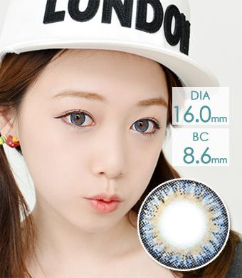 【1年カラコン】VASSEN エンジェルケイゼン Blue / 624 </BR>DIA:16.0mm, 度あり‐8.00まで