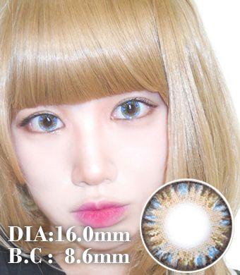 【1年カラコン】VASSENスーパーワールド 4 tone Blue / 619</BR>DIA:16.0mm, 度あり‐8.00まで
