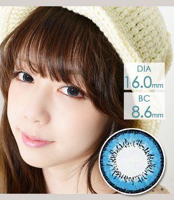 【1年カラコン】 Fairy Dolly Blue / 610</BR>DIA:16.0mm, 度あり‐8.00まで