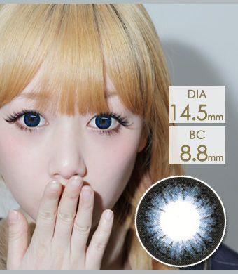 【1年カラコン】Frances OS9 Blue / 721</BR>DIA:14.5mm, 度あり‐10.00まで