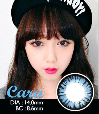 【1年カラコン】Cara Blue / 500</BR>DIA:14.0mm, 度あり‐14.00まで