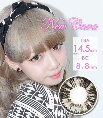 【1年カラコン】New Cara Gray / 641</BR>DIA:14.5mm, 度あり‐8.00まで