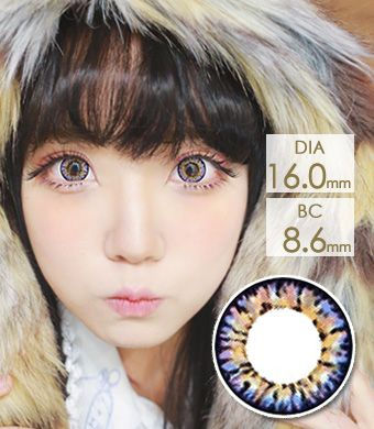 【1年カラコン】Super Pinky Violet / 627</BR>DIA:16.0mm, 度あり‐8.00まで
