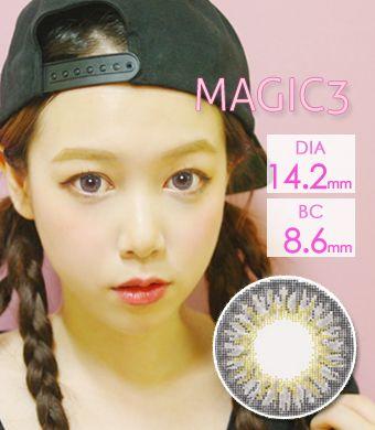 【1年カラコン】スリーカラーグ Gray  / 1026</BR>DIA:14.2mm, 度あり‐8.00まで