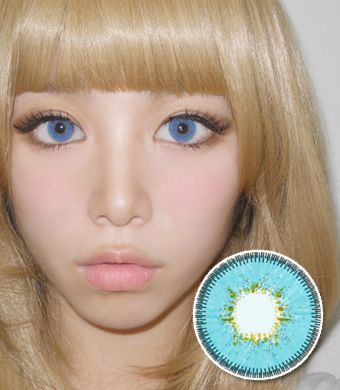 【6ヶ月カラコン】Inno Color 3-Tone Luxury (Big) Blue / 1116</BR>DIA:14.5mm, 度あり‐10.00まで