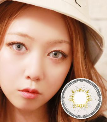 【6ヶ月カラコン】Inno Color 3-Tone Luxury (Big) White gray / 1118 </BR>DIA:14.5mm, 度あり‐10.00まで