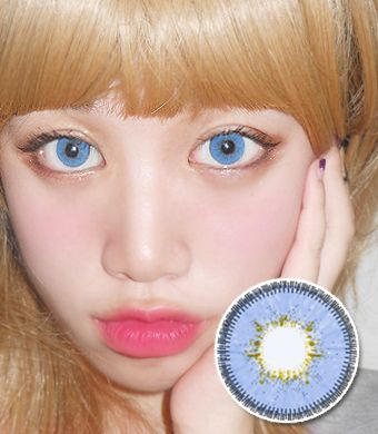 【6ヶ月カラコン】Inno Color 3-Tone Luxury (Big) Sapphire / 1137 </BR>DIA:14.5mm, 度あり‐10.00まで