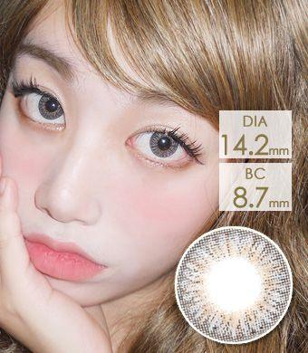 【3ヶ月カラコン】Elegance Dark gray / 1151</BR>DIA:14.2mm, 度あり‐10.00まで