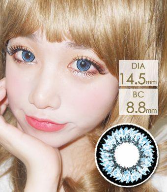 【1年カラコン】Tiffany(Z12) Blue / 1208</BR>DIA:14.5mm, 度あり‐10.00まで