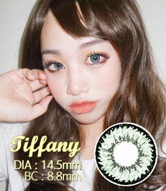 【1年カラコン】Tiffany(Z12) Green / 1209</BR>DIA:14.5mm, 度あり‐10.00まで