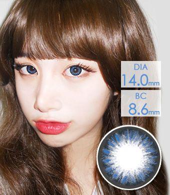 【1年カラコン】Dana Blue (AM77) / 1212</BR>DIA:14.0mm, 度あり‐10.00まで