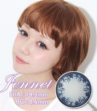 【1年カラコン】Jennet(OA1) Blue / 1220</BR>DIA:14.3mm, 度あり‐8.00まで