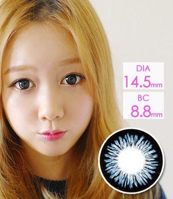 【1年カラコン】Sharon  Blue (ADS) /1223</BR>DIA:14.5mm, 度あり‐10.00まで