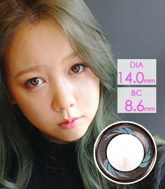 【1年カラコン】Anna Blue (AM02) /1225</br> DIA:14.0mm, 度あり‐8.00まで