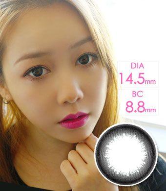 【1年カラコン】Diamant silky black  / 1149</br>DIA:14.0mm, 14.5mm, 度あり‐10.00まで