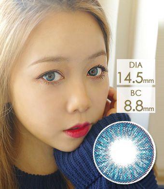 【1年カラコン】Tri color Ardor Blue / 1145</br>DIA:14.5mm, 度あり‐10.00まで
