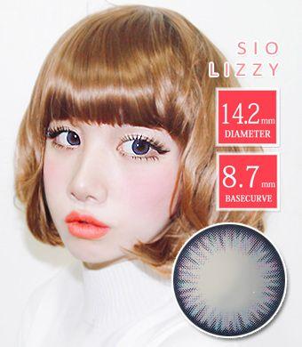 【シリコンハイドロゲル】シオカラーリジーブルー/ SIO Lizzy Blue / 1237</br>DIA:14.2mm, 度あり‐10.00まで