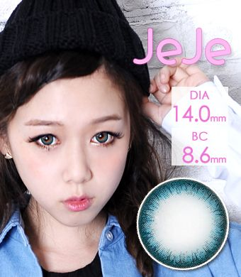 """<FONT COLOR=""""4697f2""""> [ Lucky! ¥990]</FONT>【1年カラコン】 JEJE (ジェジェ) Blue / 1250</br>"""