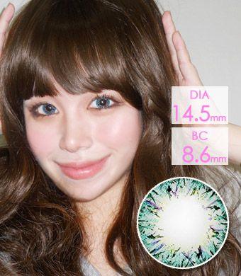 【1年カラコン】 VILLEA Blue / 1265</br>DIA:14.5mm, 度あり‐8.00まで