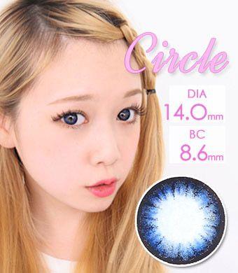 【1年カラコン】 Circle color blue / 508 </br>DIA:14.0mm, 度あり‐14.00まで