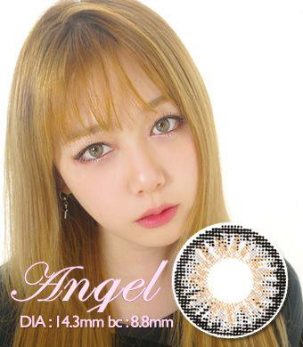 【1年カラコン】Angel Gray / 1343</BR>DIA:14.3mm, 度あり‐10.00まで