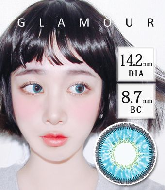 【3ヶ月カラコン】 Inno Color 3-Tone glamour Aqua / 1399</BR>DIA:14.2mm, 度あり‐10.00まで