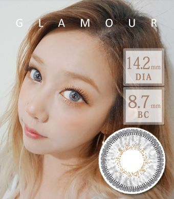 【3ヶ月カラコン】 Inno Color 3-Tone glamour white gray / 1396</BR>DIA:14.2mm, 度あり‐10.00まで