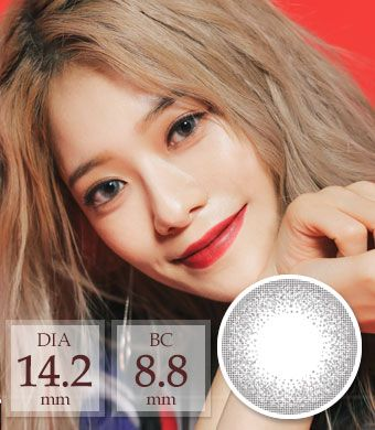 [1ヶ月着用/シリコンハイドロゲル] Club Silver pearl / 1466</BR>DIA:14.2mm, 度あり‐6.00まで