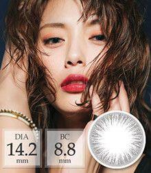 [1ヶ月/ シリコン]タッチパールTouch Silver pearl /1468</BR>DIA:14.2mm, 度あり‐6.00まで