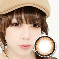 【乱視/12ヶ月カラコン】clouds brown toric / 654</br> DIA:14.0mm, G.DIA:13.4mm