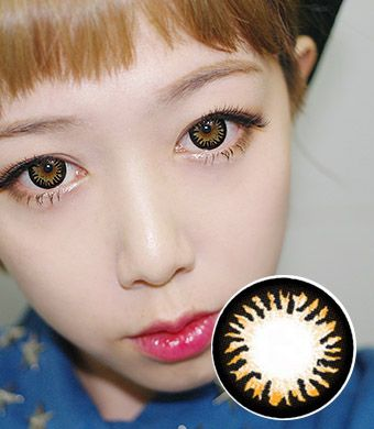【1年カラコン】 Amy NBT  brown  /924</BR>DIA:14.5mm, 度あり‐8.00まで