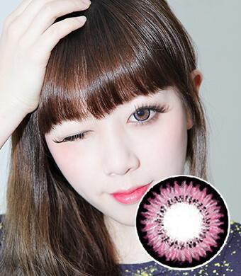 【1年カラコン】Audrey(AB200) Pink / 082</BR>DIA:14.3mm, 度なし