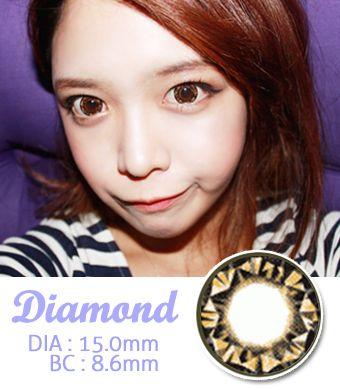 【1年カラコン】 Diamond Brown / 025</BR>DIA:15.0mm, 度なし